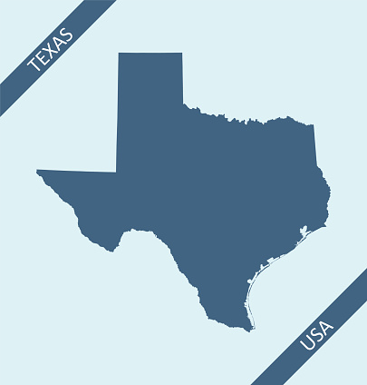 Blank map of Texas