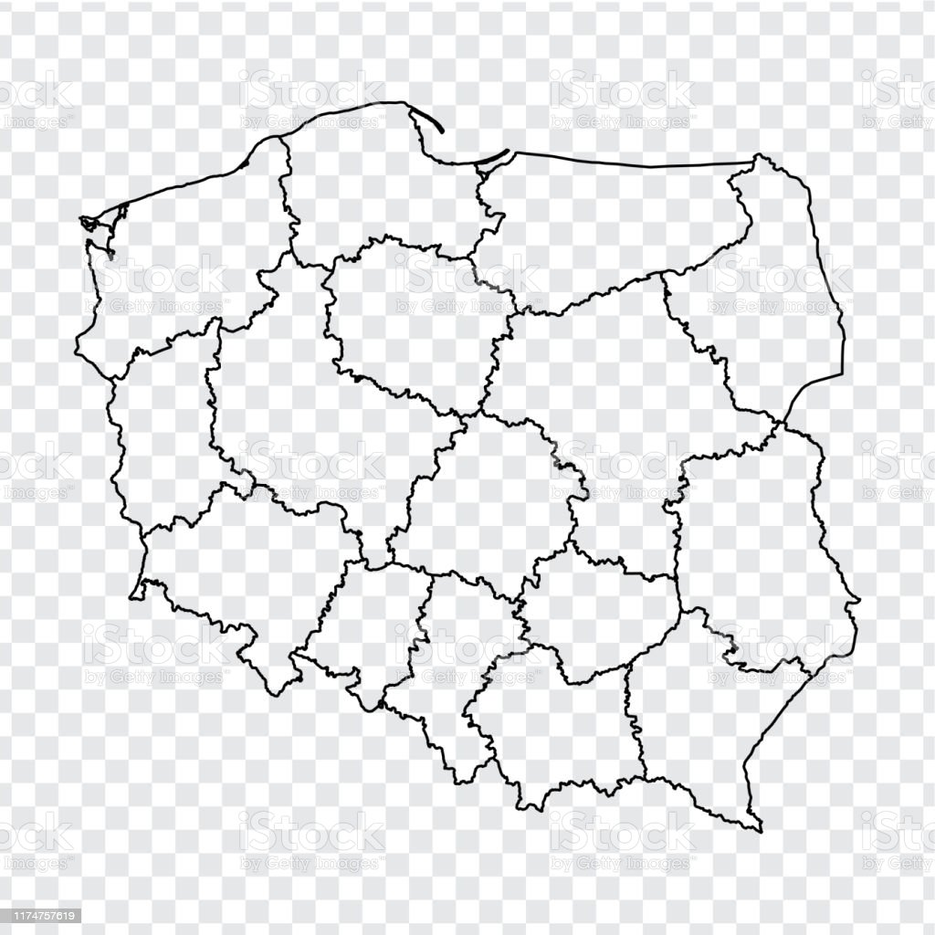 Picture of: Blank Map Republic Of Poland High Quality Map Of Poland With Provinces On Transparent Background For Your Web Site Design Logo App Ui Stock Vector Eps10 Stock Illustration Download Image Now