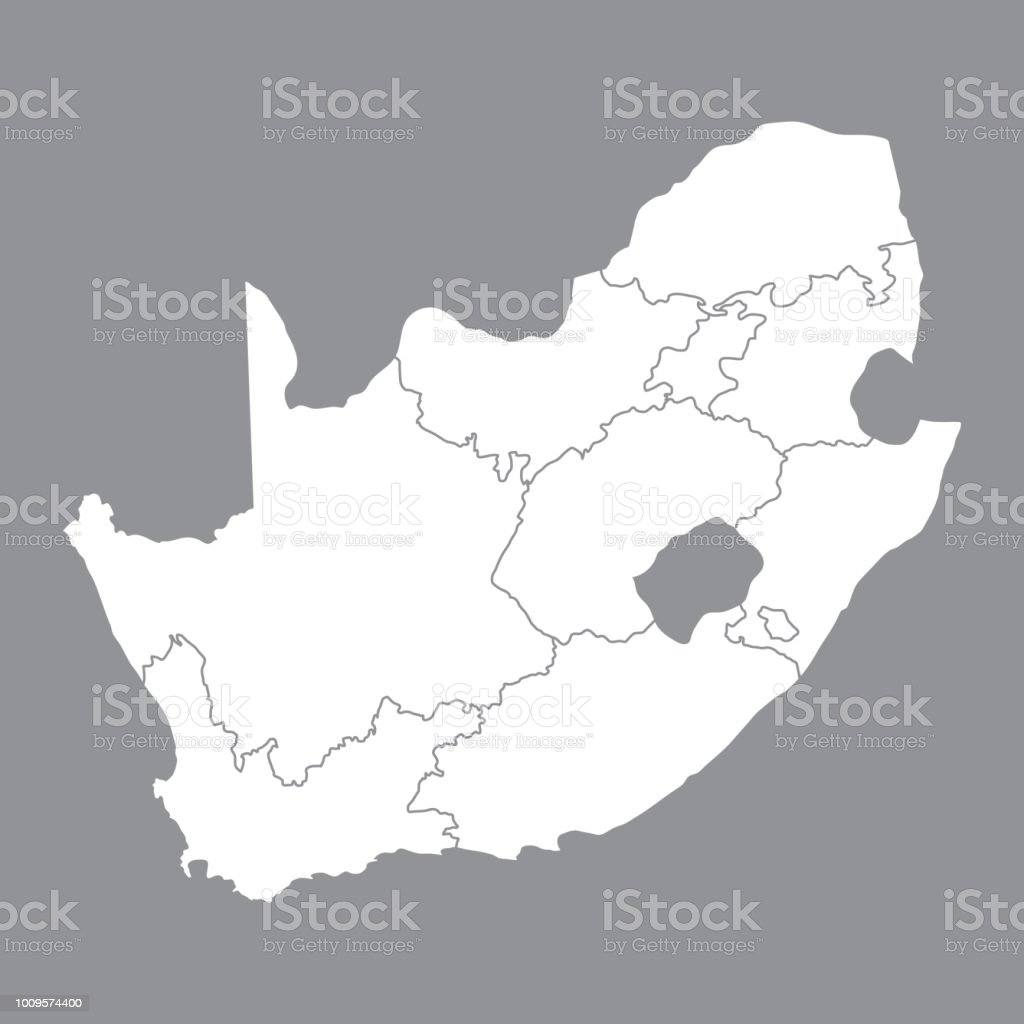 Map South Africa Johannesburg.Blank Map South Africa High Quality Map Of South Africa With The Provinces On Gray Background Stock Vector Vector Illustration Eps10 Stock