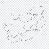 Blank Map South Africa High Quality Map Of South Africa With ...