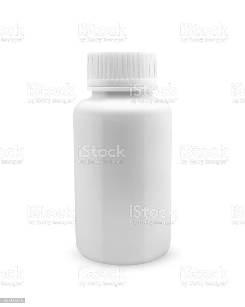 Blank medicine bottle vector art illustration