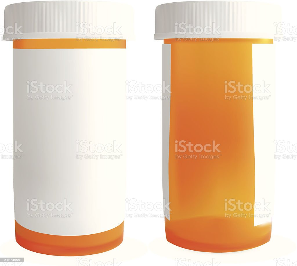 Blank Medicine Bottle - Vector vector art illustration