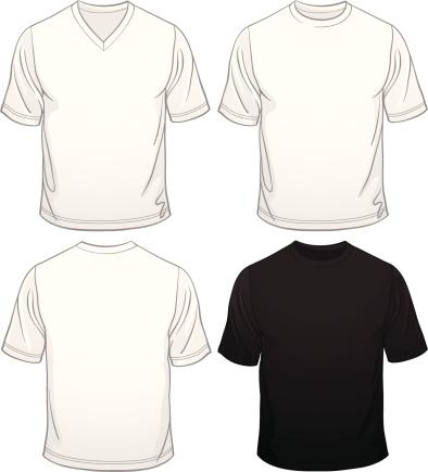 Hombres de camisetas en blanco