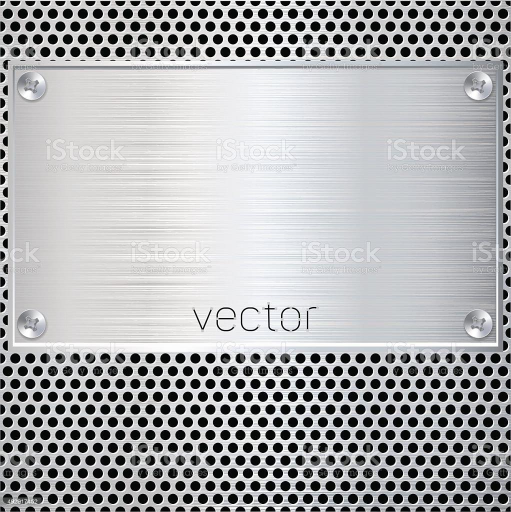 Blank metal plate. Vector illustration vector art illustration