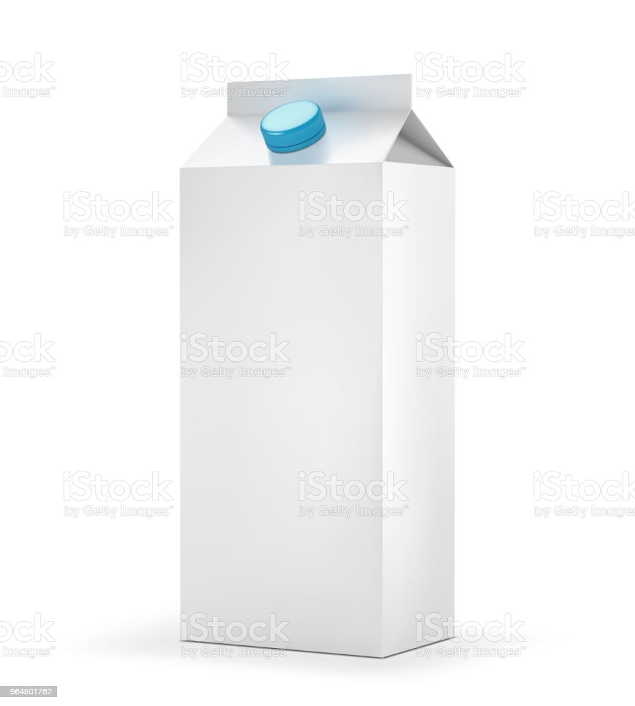 Blank milk carton package isolated on white background royalty-free blank milk carton package isolated on white background stock vector art & more images of blank