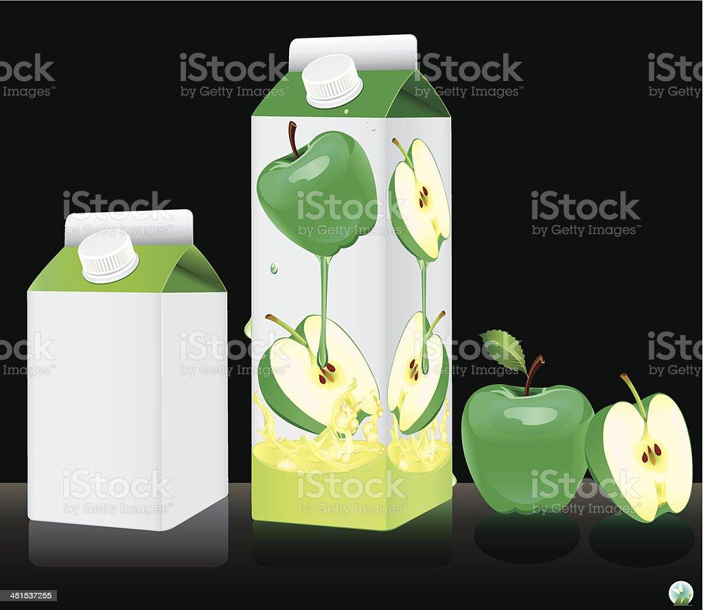 Blank milk or juice pack. royalty-free stock vector art