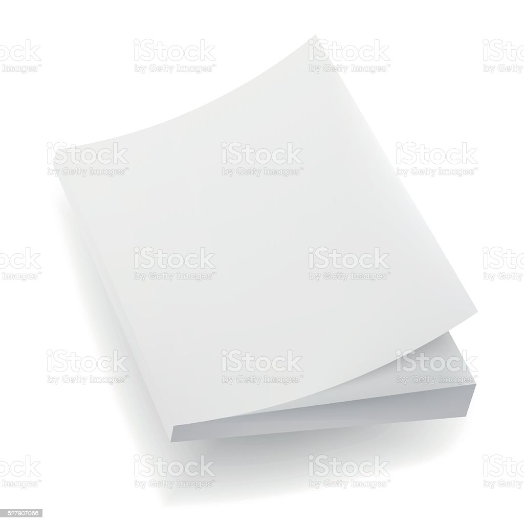 Blank  Mock Up Cover Of Notebook, Magazine, Book, Booklet, Brochure. vector art illustration