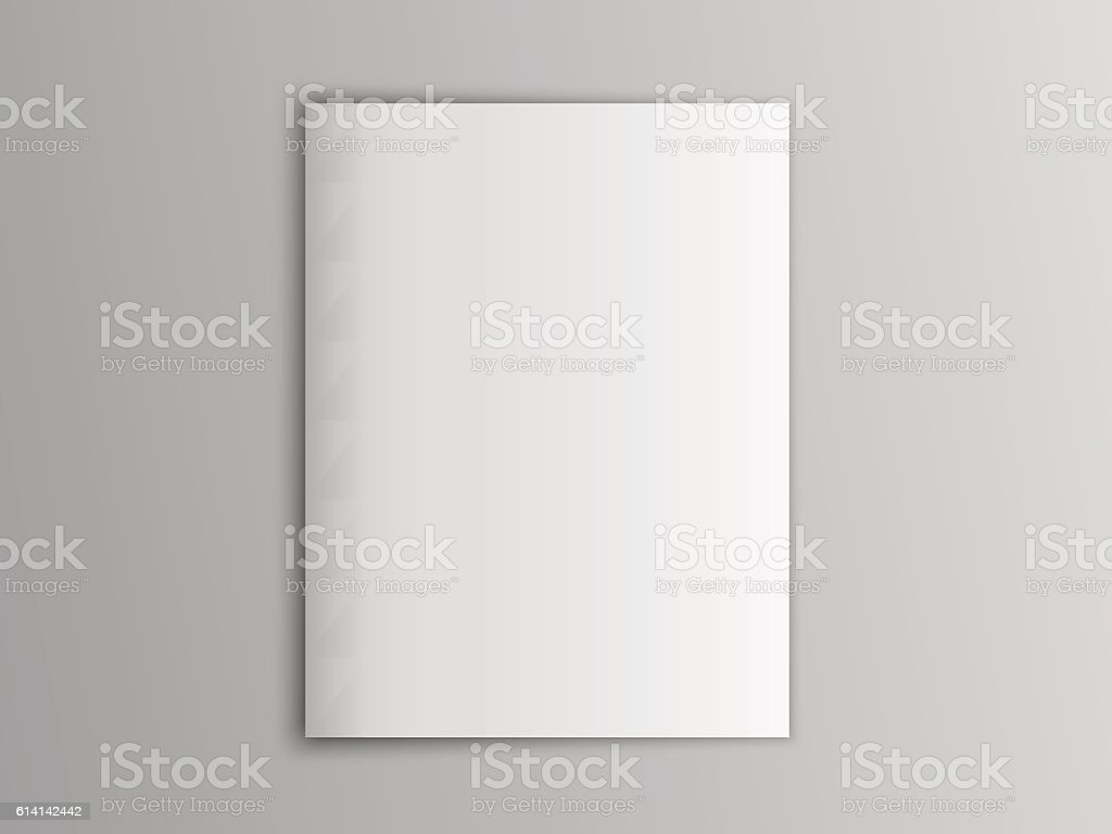 Blank mock up vector portrait cover magazine isolated on gray. 벡터 아트 일러스트