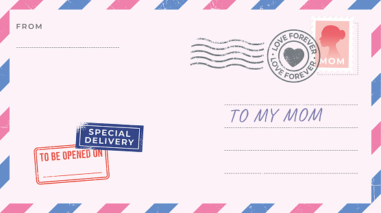 Blank Mother's Day Postcard.