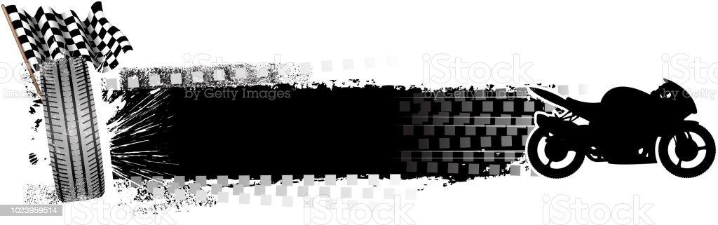 blank motorbike banner vector art illustration