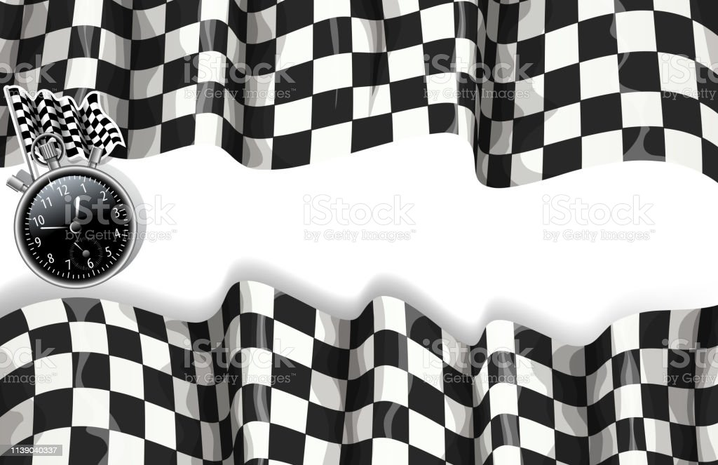 drawing of vector blank racing sport banner. Created by illustrator...