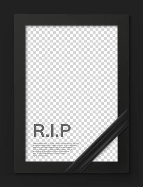 stockillustraties, clipart, cartoons en iconen met leeg rouwkader voor sympathiekaart - funeral crying