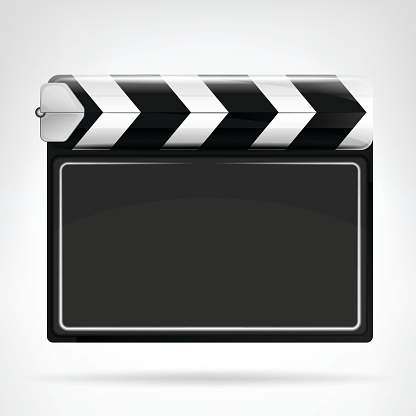 blank movie flap object  isolated