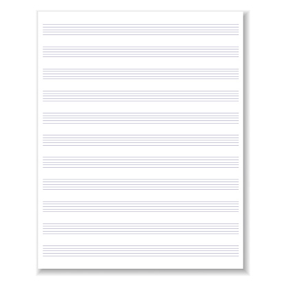 Blank musical sheet of paper. Empty sheet of notepad for notes with lines. Vector illustration. Stock image. EPS10