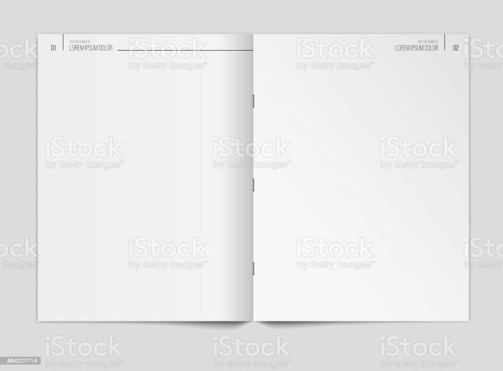 Blank Newspaper Template On Gray Background Vector Illustration