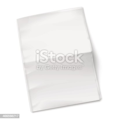 Blank Newspaper Template On White Background Stock Vector Art More