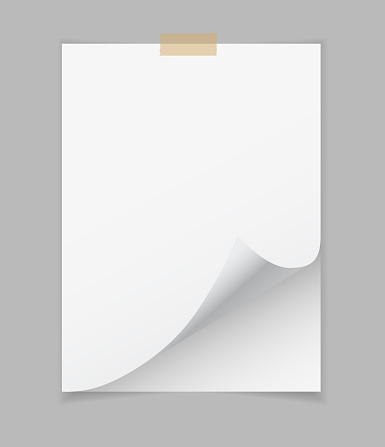 blank note paper page