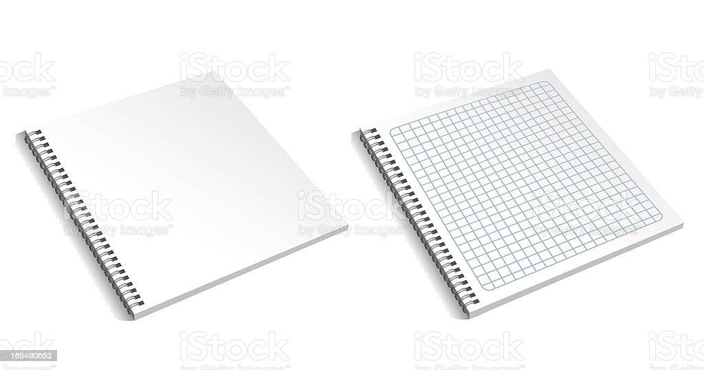 Blank notebook vector art illustration