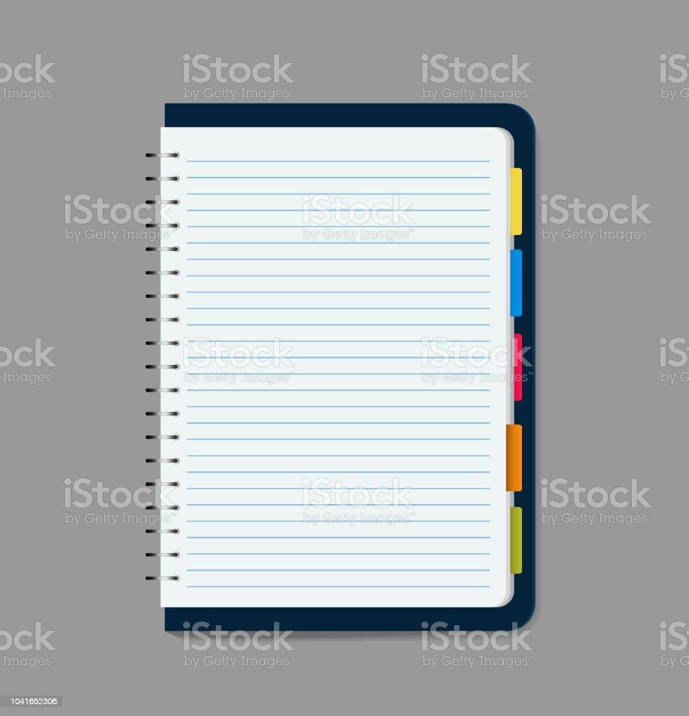 blank notebook vector illustration vector art illustration