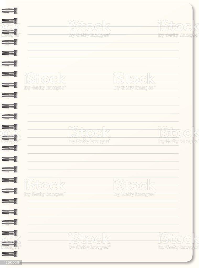 Blank notepad vector art illustration