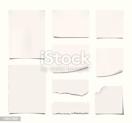 istock Blank Notes and Papers 158423651
