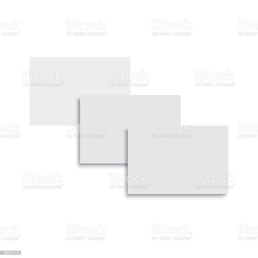 Blank Of Business Card Template Vector Illustration Stock Vector Art ...