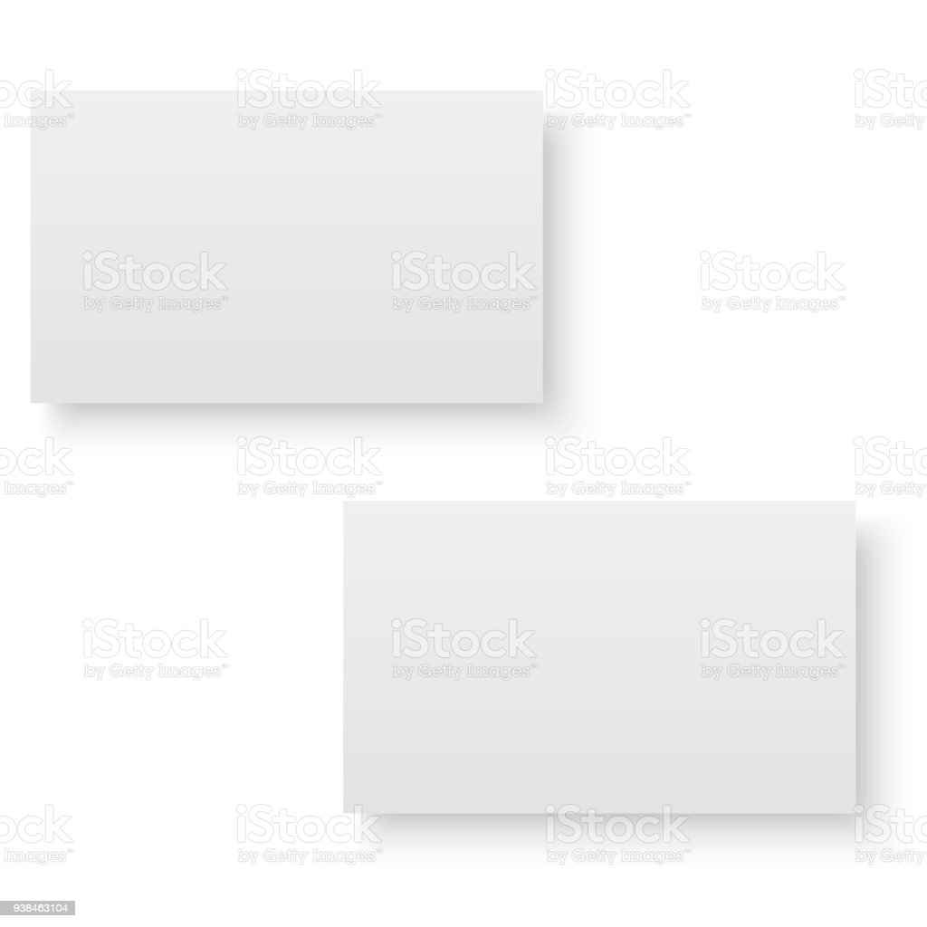 Blank of business card with soft shadows vector stock vector art blank of business card with soft shadows vector royalty free blank of business reheart Images