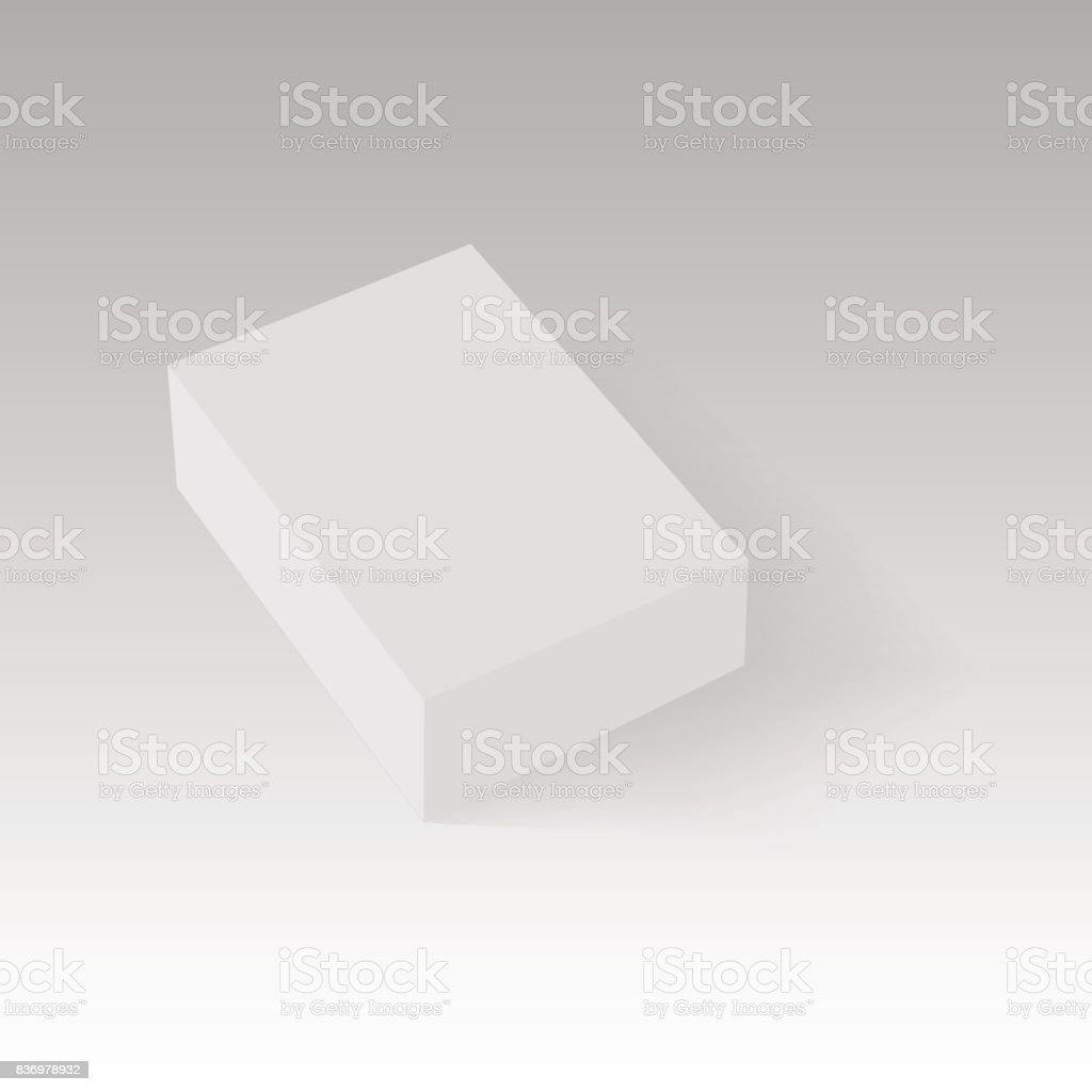 Blank Of Closed Paper Or Cardboard Box Template Vector Illustration