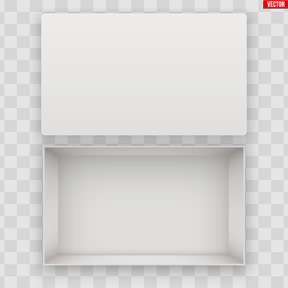 Blank of Open White Shoe Box