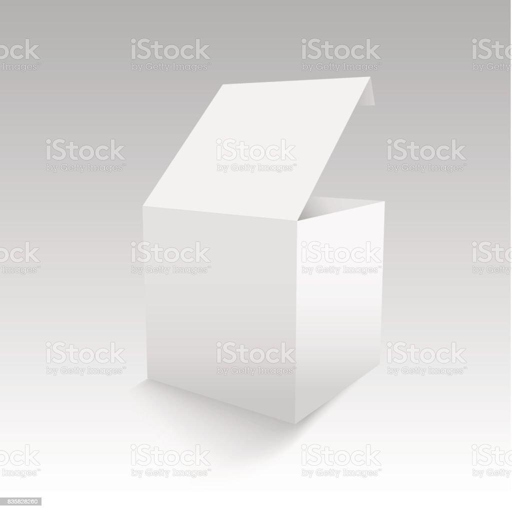 Espacio En Blanco De La Plantilla De Caja De Cartón O Papel ...