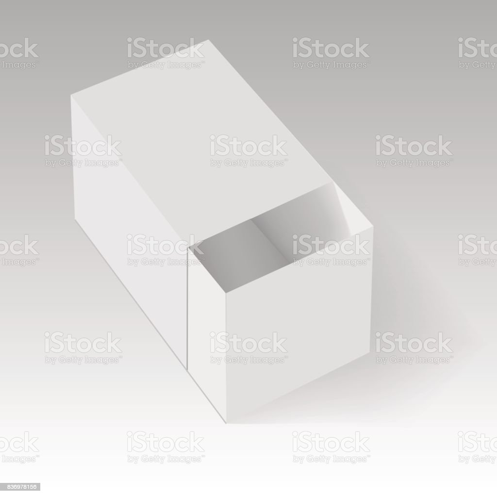 Blank Of Opened Paper Or Cardboard Box Template Vector Illustration Royalty Free