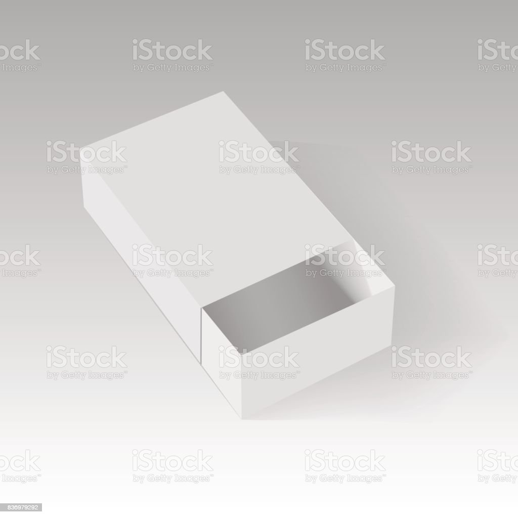 Blank Of Opened Paper Or Cardboard Box Template Vector Illustration ...