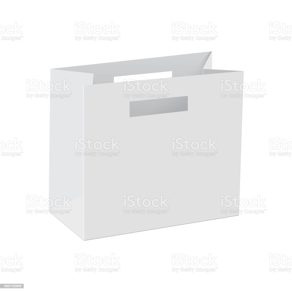blank of paper bag template vector stock vector art more images of