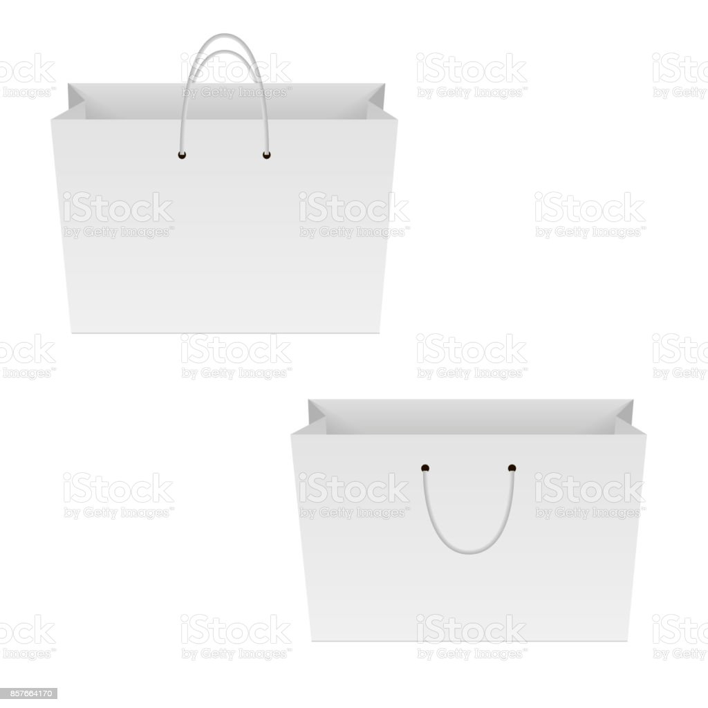 blank of paper shopping bag mock up for your designvector stock