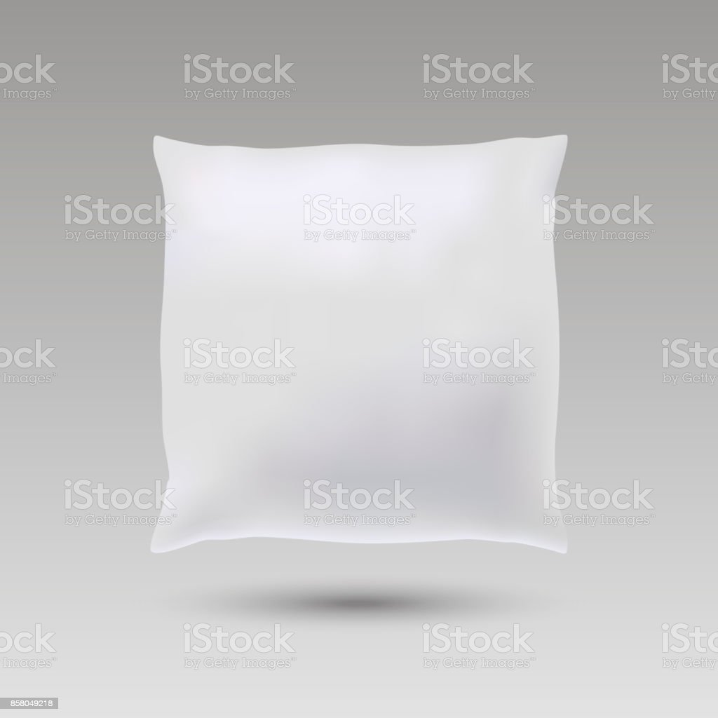 Blank of square pillow for your design. mock up pillow. Vector. vector art illustration