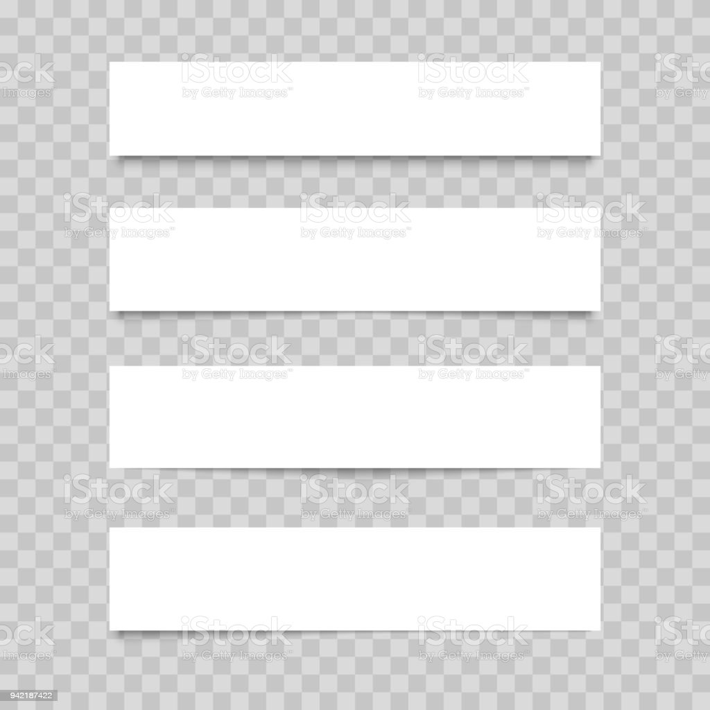 blank of web banner on transparent background vector stock vector