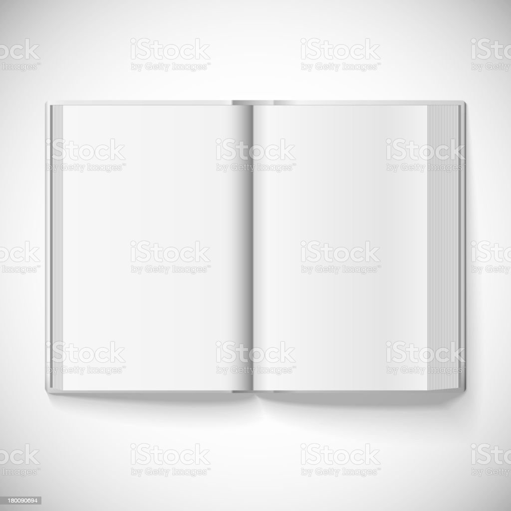 Blank open book, vector illustration royalty-free stock vector art
