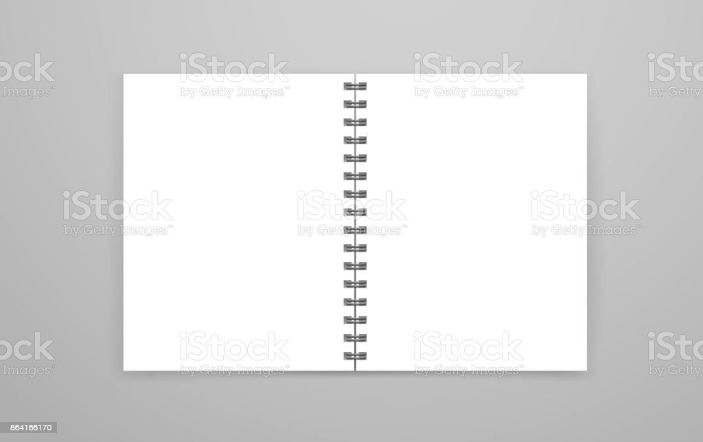 Blank open white notebook vector mockup. Identity template royalty-free blank open white notebook vector mockup identity template stock vector art & more images of blank