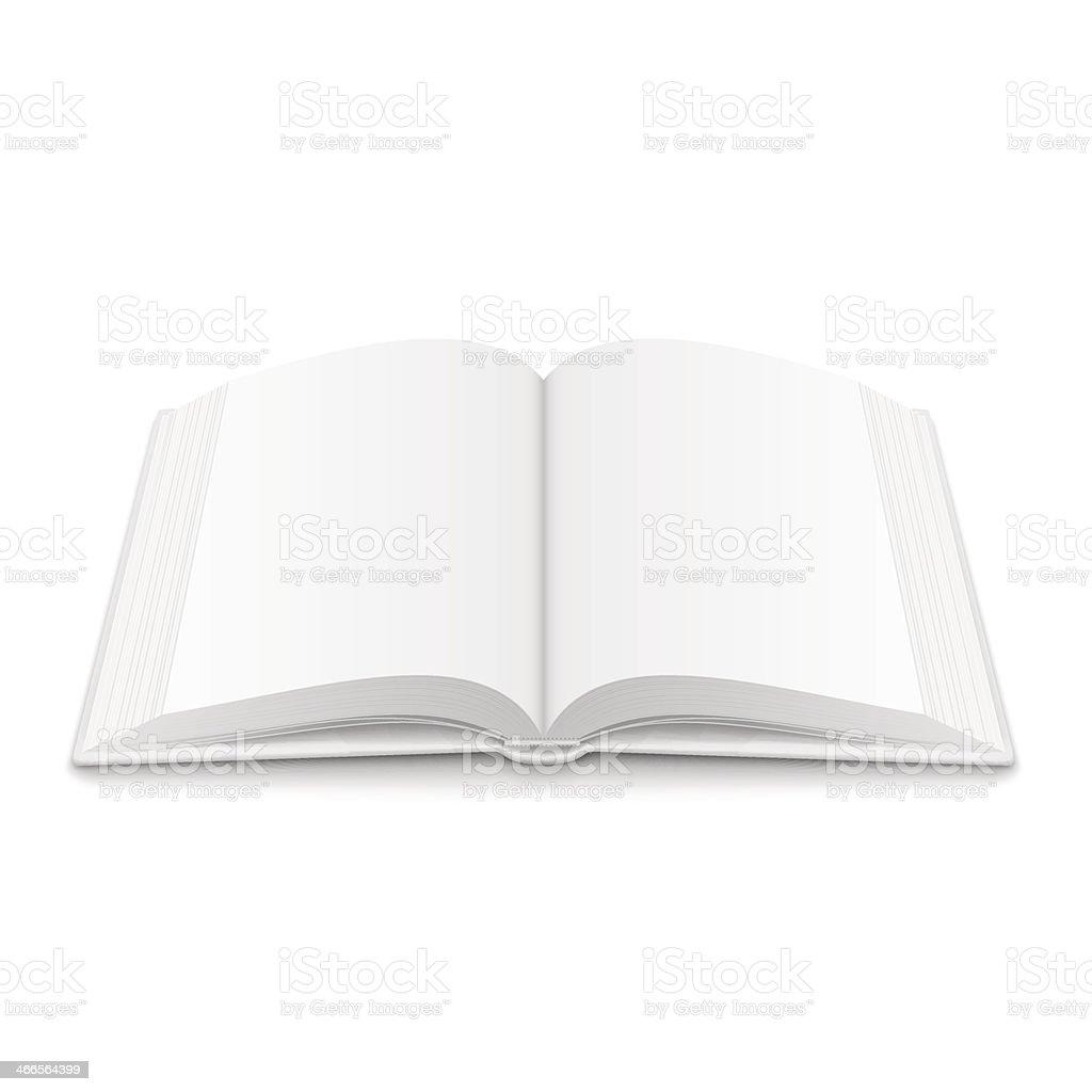 Leere öffnete Buch Vorlage Mit Weichen Schatten Stock Vektor Art und ...