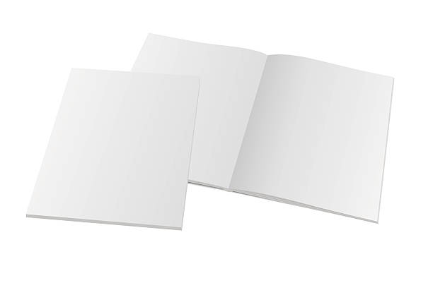 blank opened magazine with cover Blank opened magazine with cover. Vector mockup template illustration. spreading stock illustrations