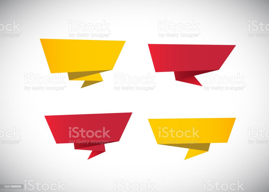 Blank Origami Banner Template Design Stock Illustration