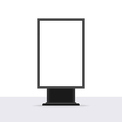 Blank outdoor lightbox template