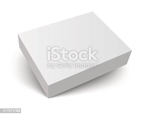 istock blank packaging box with shadow 477974766