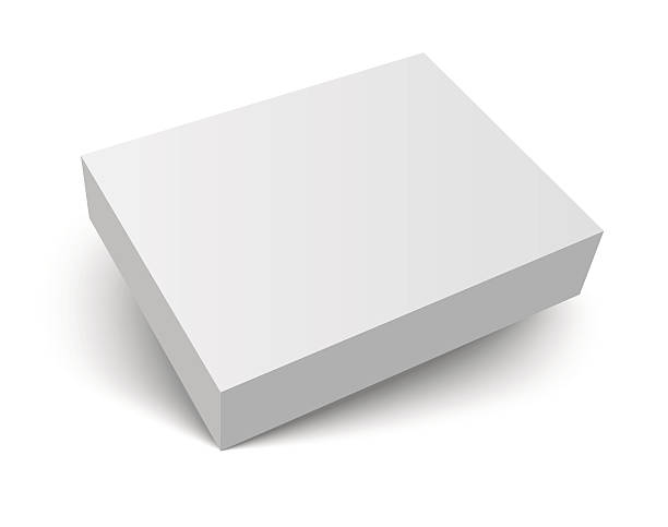 blank packaging box with shadow - boxes stock illustrations, clip art, cartoons, & icons