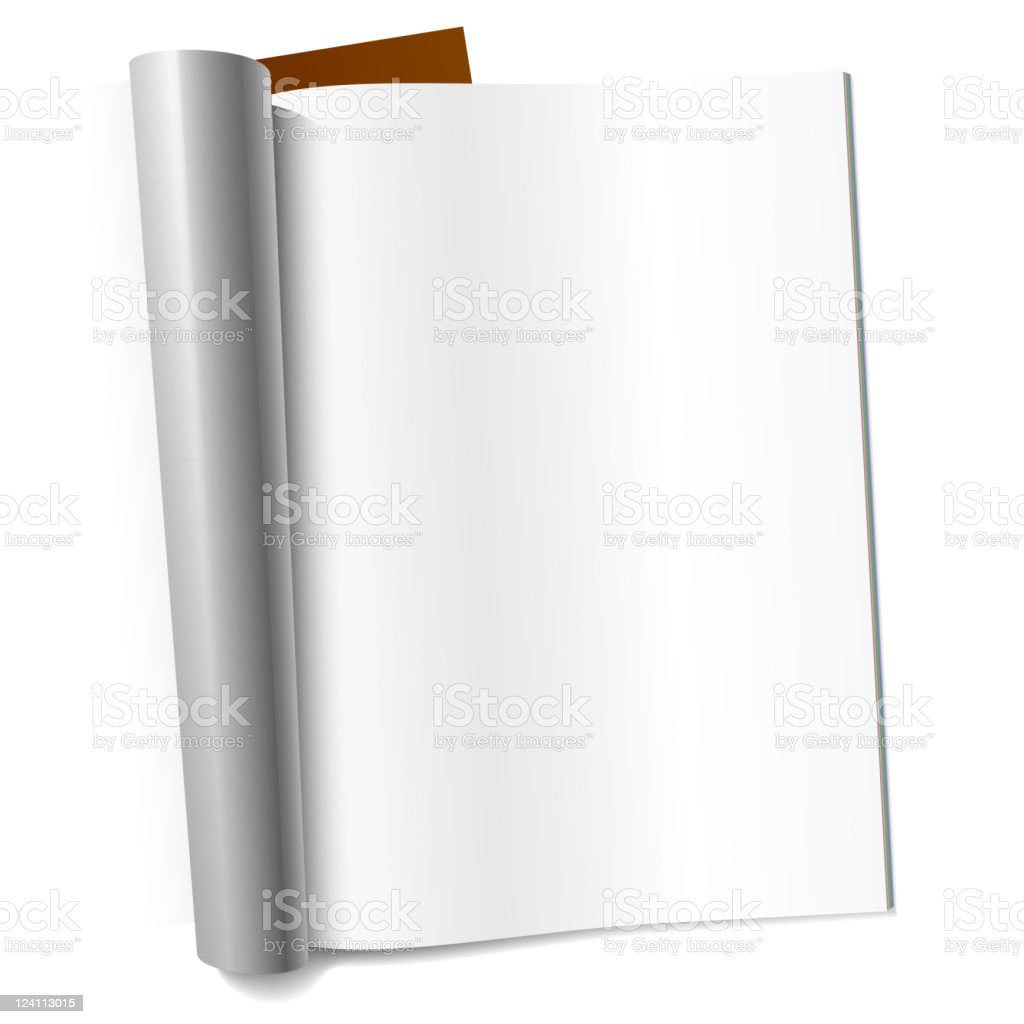 Blank page of magazine royalty-free stock vector art