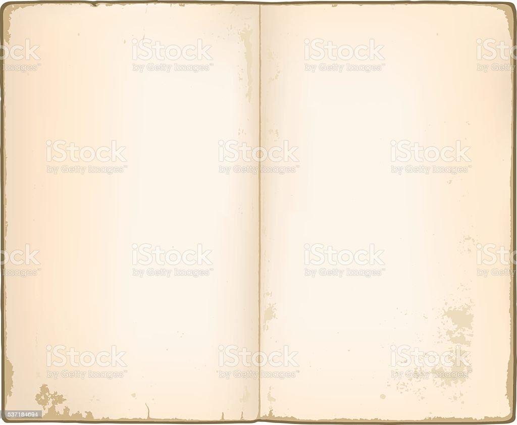 Leere Seiten in alte notebook – Vektorgrafik
