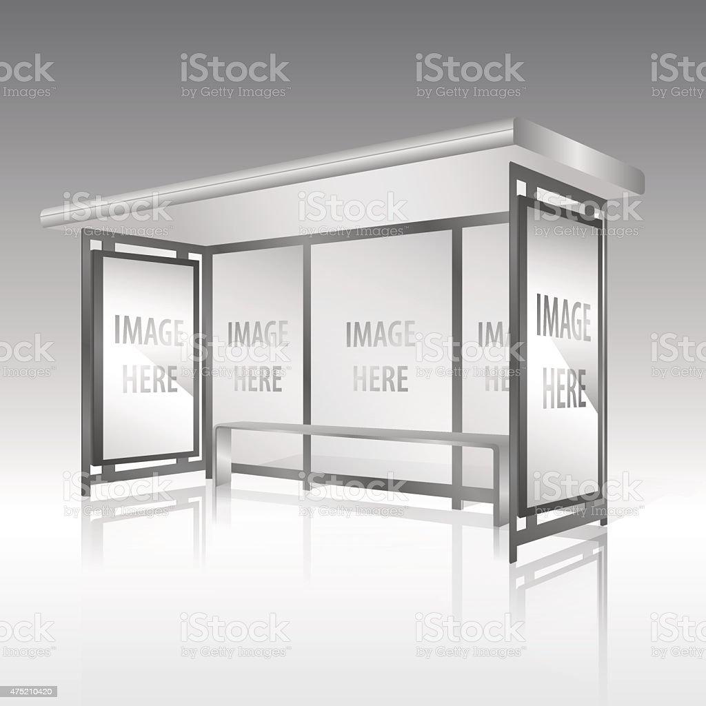 Panneau vide sur l'arrêt de bus - Illustration vectorielle