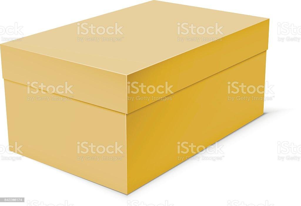 Blank Paper Or Cardboard Box Template Lizenzfreies Vektor Illustration