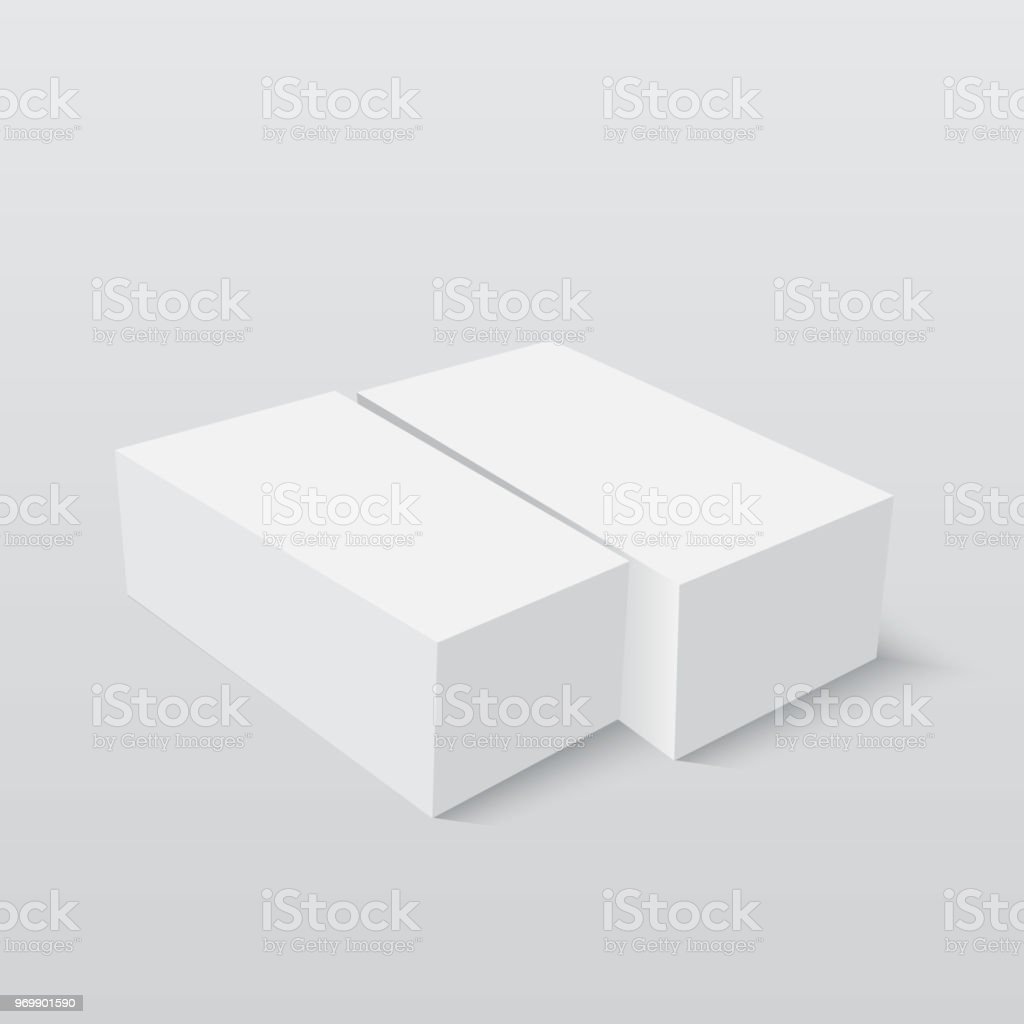 blank paper or cardboard box template vector illustration stock
