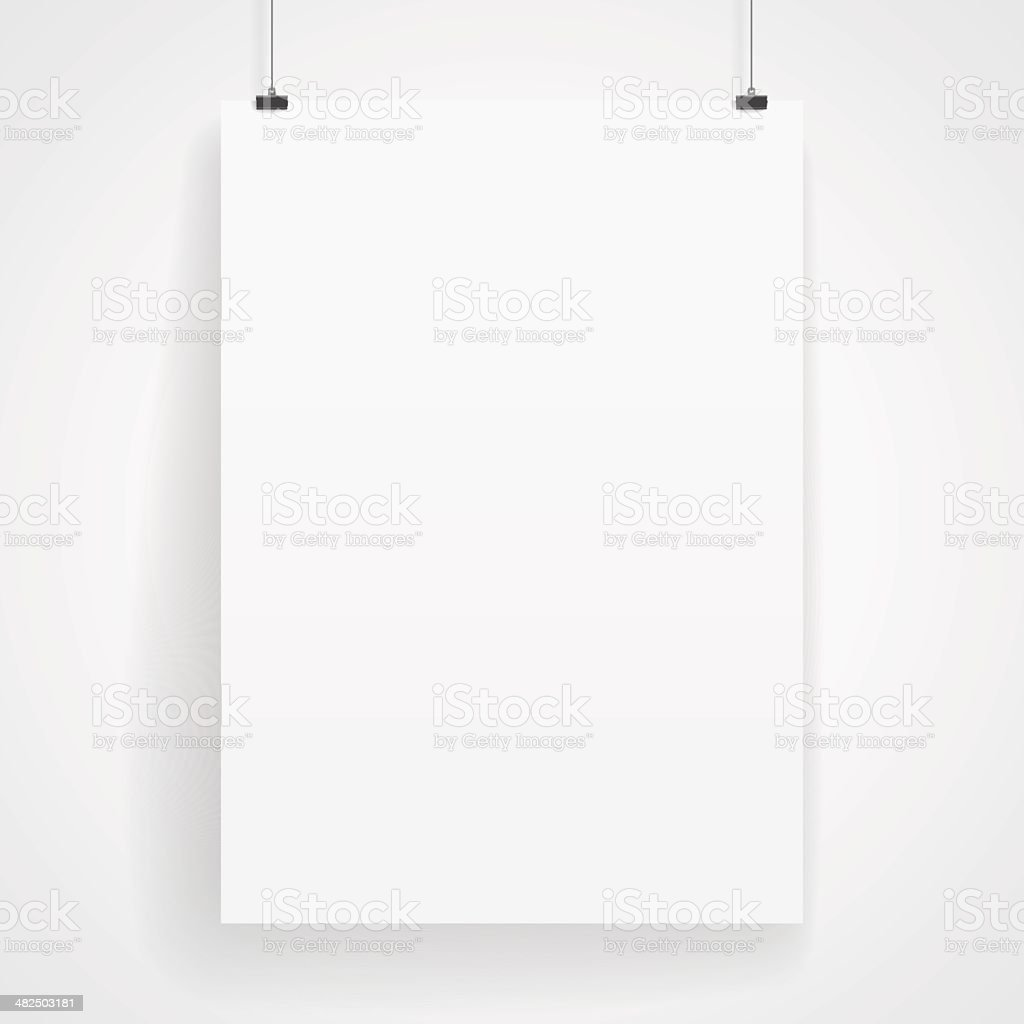 Blank paper poster vector art illustration